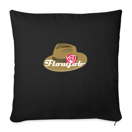 Flowjob Logo - Sofa pillowcase 17,3'' x 17,3'' (45 x 45 cm)