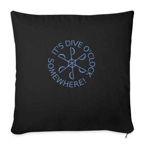 Dive o clock Light Blue - Sofa pillowcase 17,3'' x 17,3'' (45 x 45 cm)