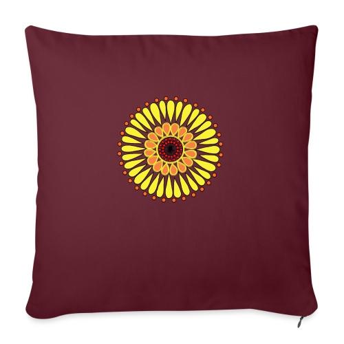 Yellow Sunflower Mandala - Sofa pillowcase 17,3'' x 17,3'' (45 x 45 cm)