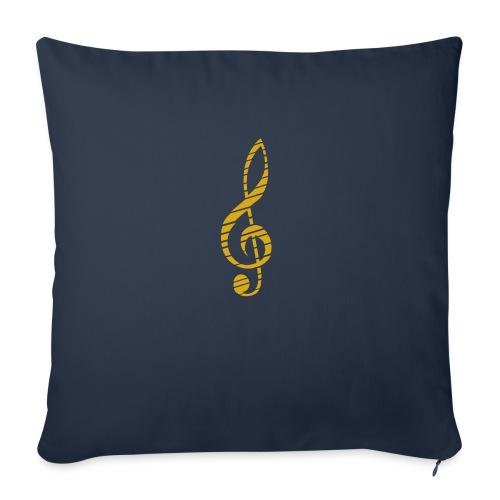 Goldenes Musik Schlüssel Symbol Chopped Up - Sofa pillowcase 17,3'' x 17,3'' (45 x 45 cm)