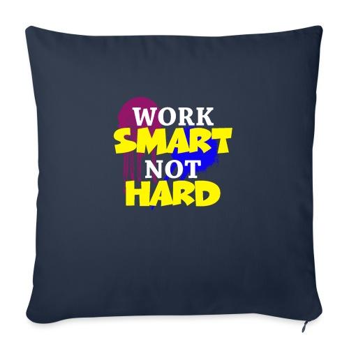 travailler intelligemment pas difficile - Housse de coussin décorative 45x 45cm