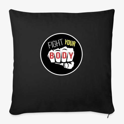 logo fyb noir - Housse de coussin décorative 45x 45cm