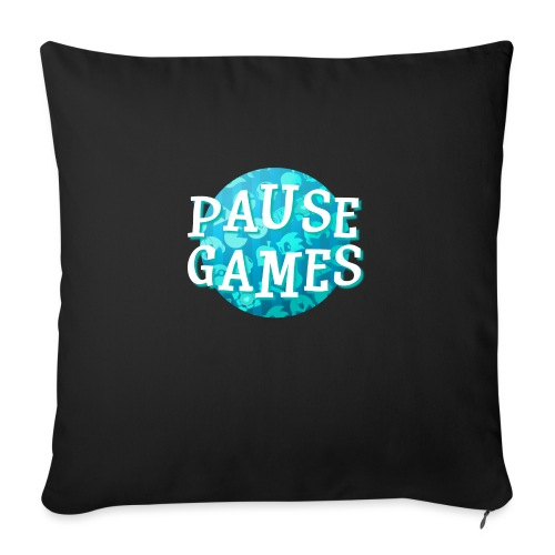 Pause Games New Design Blue - Sofa pillowcase 17,3'' x 17,3'' (45 x 45 cm)