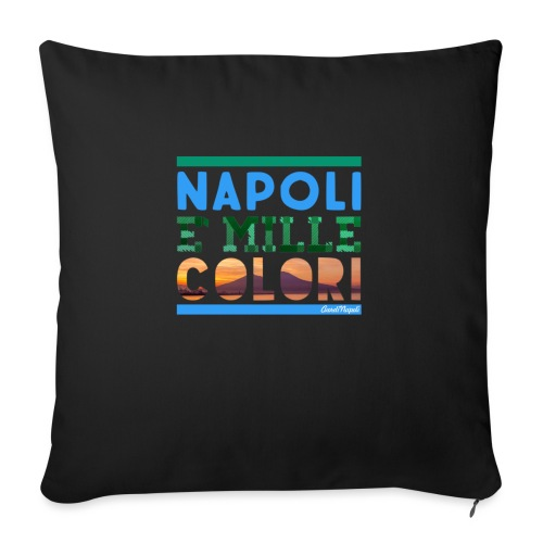 Napoli è mille colori - Copricuscino per divano, 45 x 45 cm