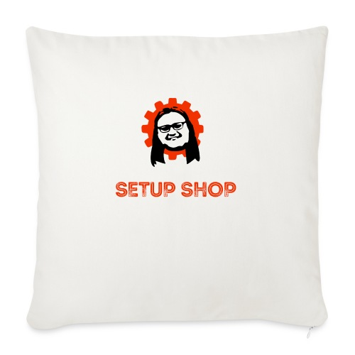 Craigs Setup Shop on black - Sofa pillowcase 17,3'' x 17,3'' (45 x 45 cm)