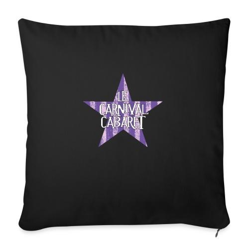 bonnet LCC noir etoie violette - Sofa pillowcase 17,3'' x 17,3'' (45 x 45 cm)