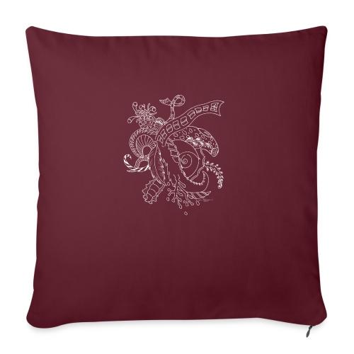 Fantasy white scribblesirii - Sofa pillowcase 17,3'' x 17,3'' (45 x 45 cm)