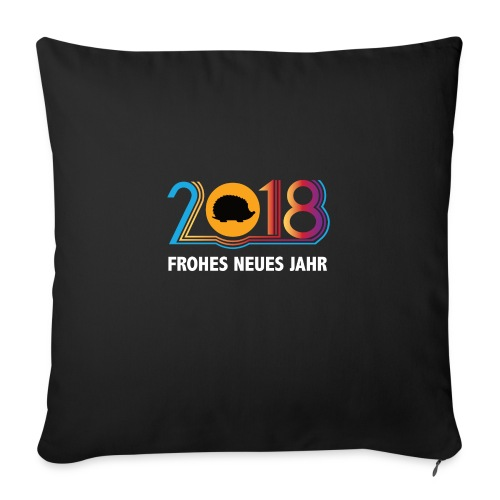 Frohes neues Jahr 2018 Igeldesign - Sofakissenbezug 44 x 44 cm
