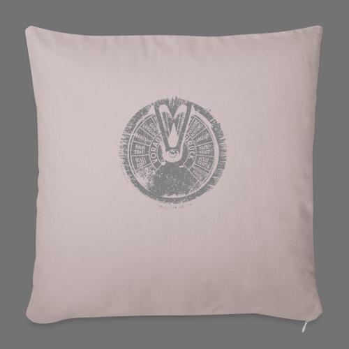 Maschinentelegraph (gray oldstyle) - Sofa pillowcase 17,3'' x 17,3'' (45 x 45 cm)