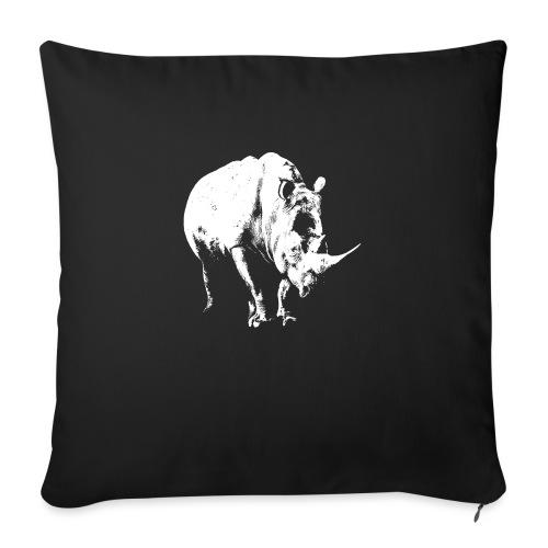 White Rhinoceros (highlights only) - Sofa pillowcase 17,3'' x 17,3'' (45 x 45 cm)