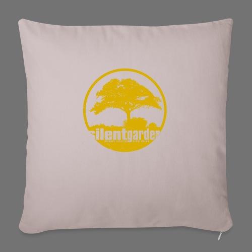 hiljainen puutarha (keltainen oldstyle) - Sohvatyynyn päällinen 45 x 45 cm