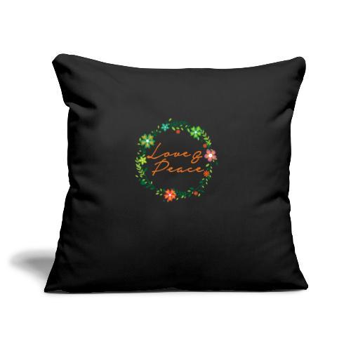 Love and Peace - Sofa pillowcase 17,3'' x 17,3'' (45 x 45 cm)