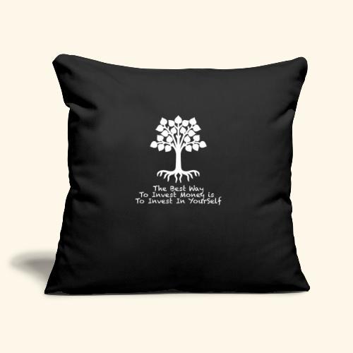 Printed T-Shirt Tree Best Way Invest Money - Copricuscino per divano, 45 x 45 cm