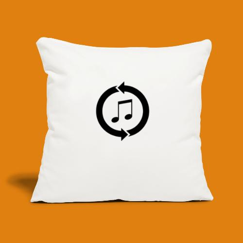 music, renew music, music, t-shirt music - Sofa pillowcase 17,3'' x 17,3'' (45 x 45 cm)