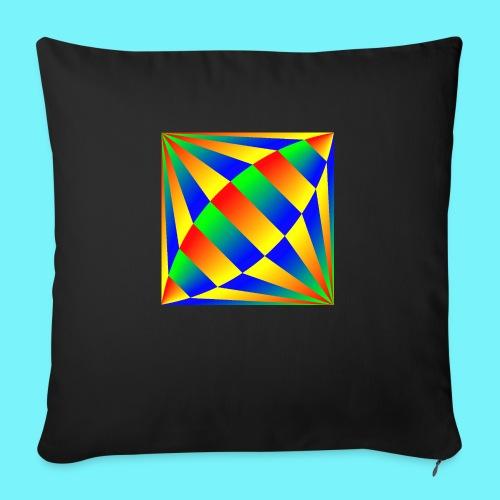 Giant cufflink design in blue, green, red, yellow. - Sofa pillowcase 17,3'' x 17,3'' (45 x 45 cm)