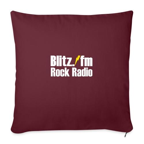 BLITZ FM TSHIRT Schwarz - Sofakissenbezug 44 x 44 cm