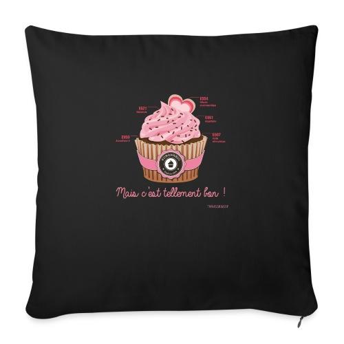 cupcake rose 2 - Housse de coussin décorative 45x 45cm