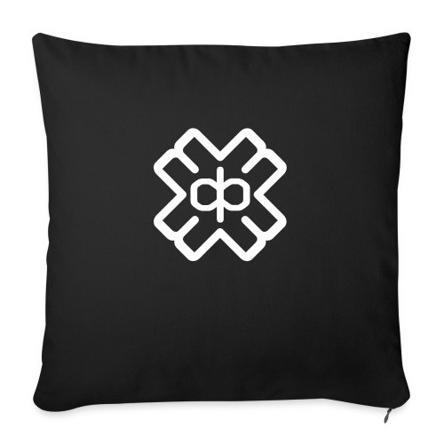 d3eplogowhite - Sofa pillowcase 17,3'' x 17,3'' (45 x 45 cm)