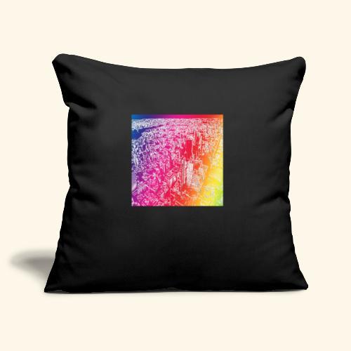 Manhattan arcobaleno - Copricuscino per divano, 45 x 45 cm