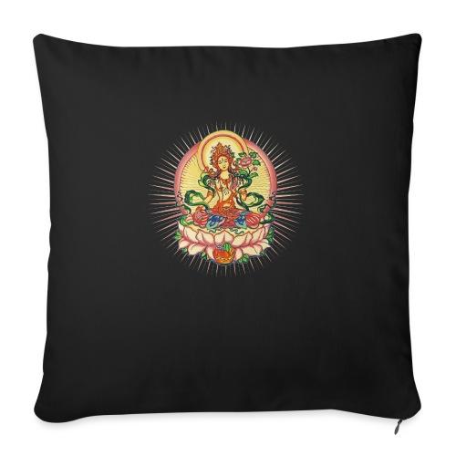 Tara Tibet Buddhismus Lotus Meditation Yoga - Sofakissenbezug 44 x 44 cm