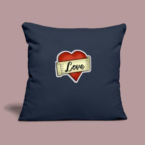 Love cœur tatouage - Housse de coussin décorative 45x 45cm