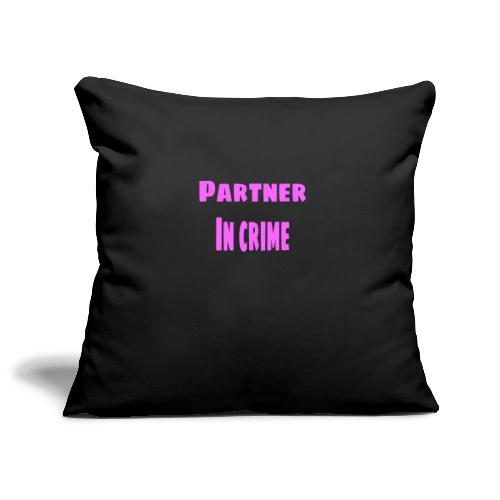 Partner in crime pink - Soffkuddsöverdrag, 45 x 45 cm