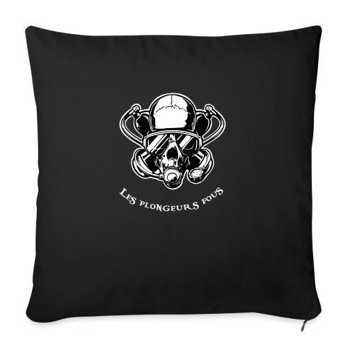 Skull diver white double face - Housse de coussin décorative 45x 45cm