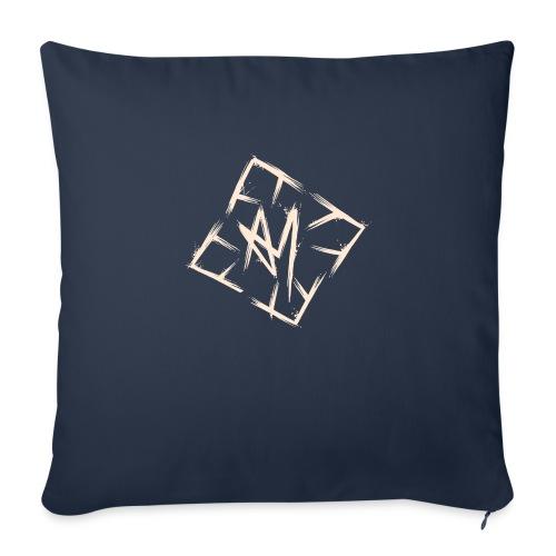 Across Yourself - Logo white transparent - Sofa pillowcase 17,3'' x 17,3'' (45 x 45 cm)
