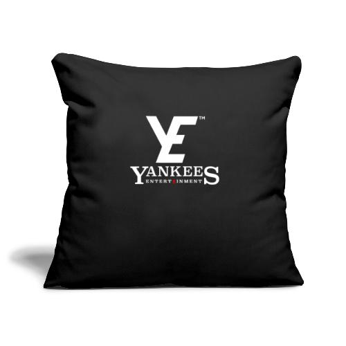 YE Logo White - Sofa pillowcase 17,3'' x 17,3'' (45 x 45 cm)