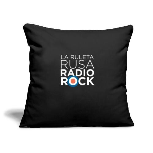 La Ruleta Rusa Radio Rock. Retrato blanco - Funda de cojín, 45 x 45 cm