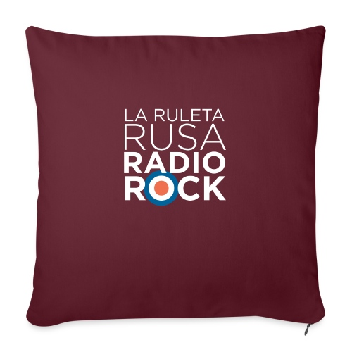 La Ruleta Rusa Radio Rock. Retrato blanco - Funda de cojín, 45 x 45 cm