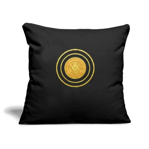 Glückssymbol Sonne - positive Schwingung - Spirale - Sofakissenbezug 44 x 44 cm
