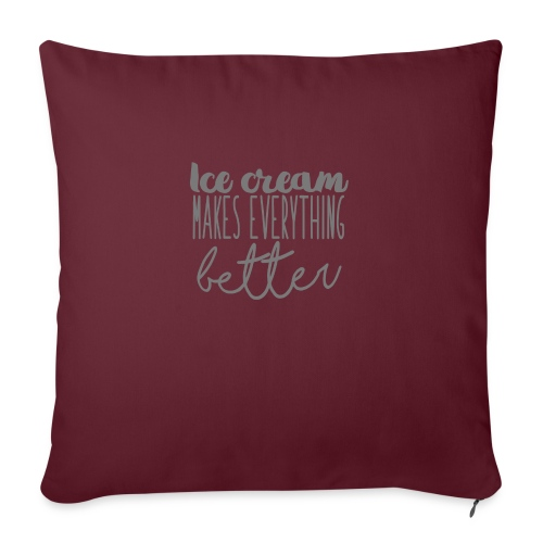 Ice Cream Makes Everything Better - Funda de cojín, 45 x 45 cm
