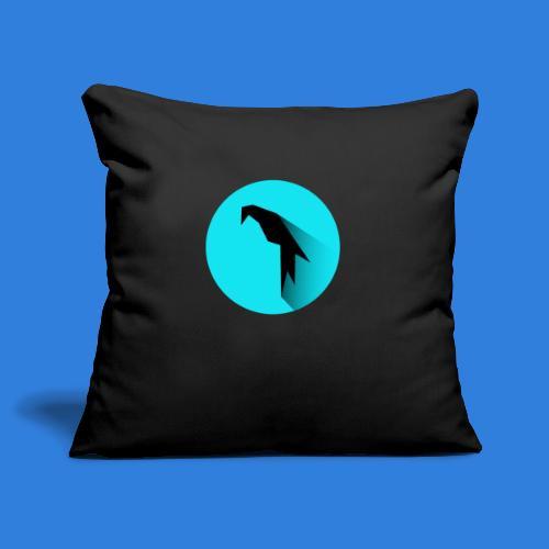 Parrot Logo + Prompt - Sofa pillowcase 17,3'' x 17,3'' (45 x 45 cm)