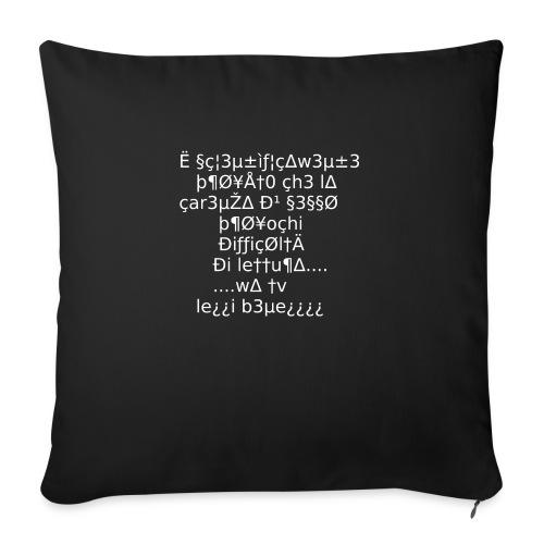 Carenza di sesso - Copricuscino per divano, 45 x 45 cm