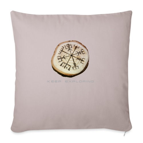 Sterkr - Vegvísir - Sofa pillowcase 17,3'' x 17,3'' (45 x 45 cm)