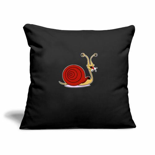 Escargot rigolo red version - Housse de coussin décorative 45x 45cm