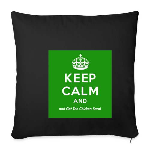 Keep Calm and Get The Chicken Sarni - Green - Sofa pillowcase 17,3'' x 17,3'' (45 x 45 cm)