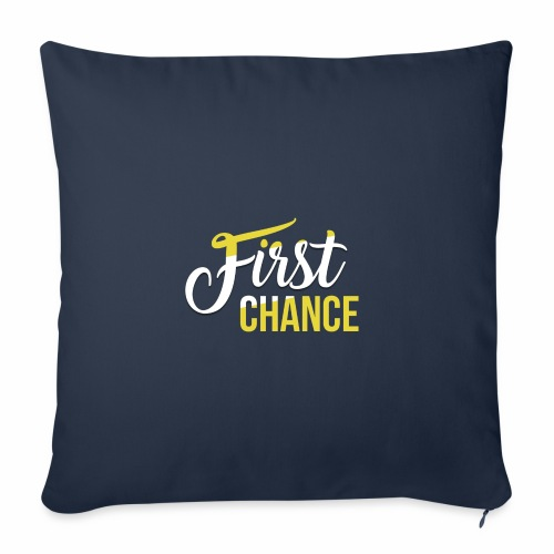 Logo Album First Chance - Housse de coussin décorative 45 x 45 cm