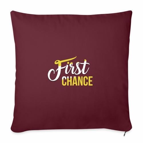 Logo Album First Chance - Housse de coussin décorative 45x 45cm