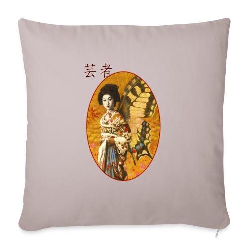 Vintage Japanese Geisha Oriental Design - Sofa pillowcase 17,3'' x 17,3'' (45 x 45 cm)