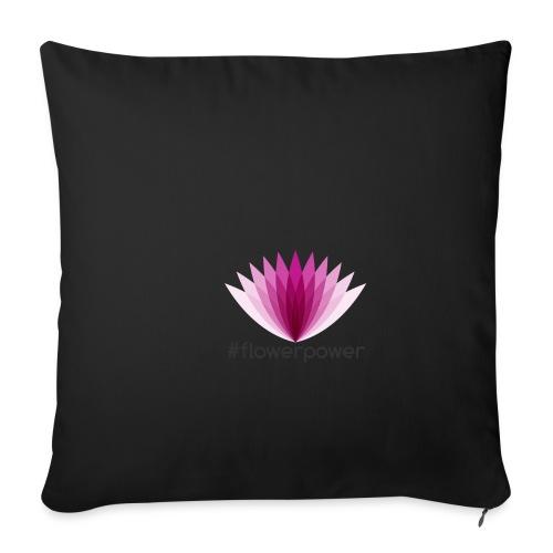 #flowerpower - Sofa pillowcase 17,3'' x 17,3'' (45 x 45 cm)