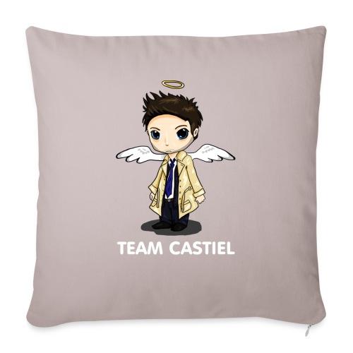 Team Castiel (dark) - Sofa pillowcase 17,3'' x 17,3'' (45 x 45 cm)