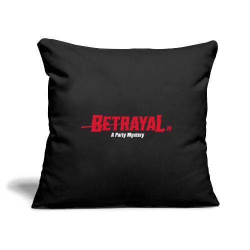 00419 Betrayal logo blanco - Funda de cojín, 45 x 45 cm