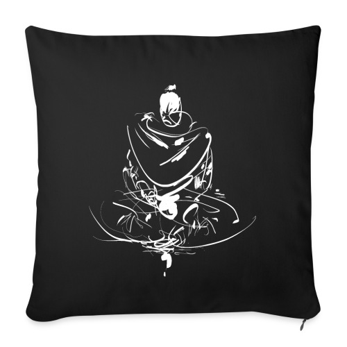 Iaido Samurai Zen Meditation - Sofa pillowcase 17,3'' x 17,3'' (45 x 45 cm)