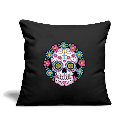Dia de los Muertos Skull- - Sofa pillowcase 17,3'' x 17,3'' (45 x 45 cm)