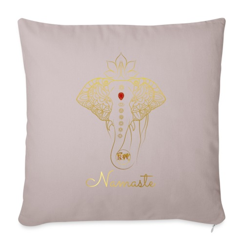 RUBINAWORLD - Namaste - Sofa pillowcase 17,3'' x 17,3'' (45 x 45 cm)