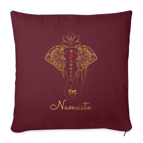 RUBINAWORLD - Namaste - Sofa pillowcase 17,3'' x 17,3'' (45 x 45 cm)