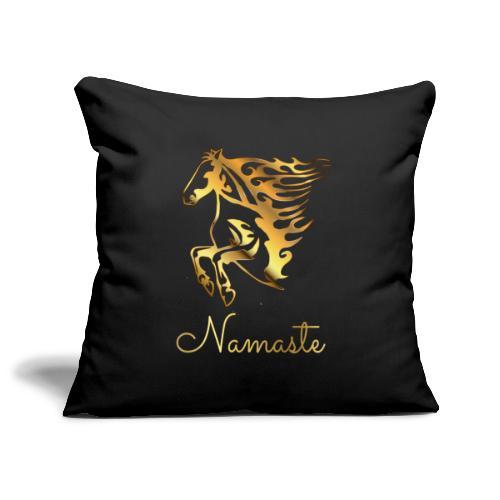 Namaste Horse On Fire - Sofakissenbezug 44 x 44 cm