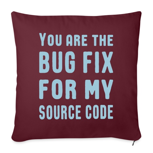 Programmierer Beziehung Liebe Source Code Spruch - Sofakissenbezug 44 x 44 cm